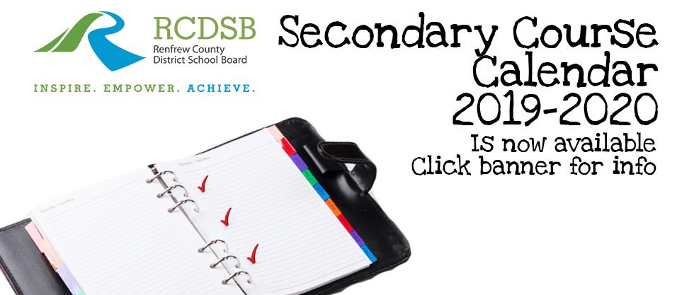 Secondary Course Calendar
