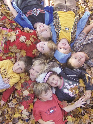Beachburg Public School students enjoy a fall day
